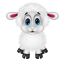 Cute sheep - Year of the Sheep 2015! Photographic Print