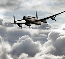 Lancaster In The Clouds  by J Biggadike