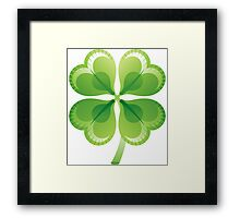 Shamrock - St Patricks Day Framed Print