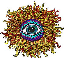 Psychedelic Sunflower - Just the flower by ptelling