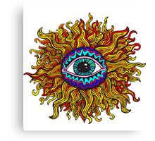 Psychedelic Sunflower - Just the flower Canvas Print