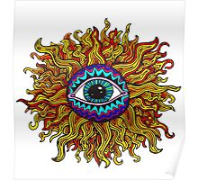 Psychedelic Sunflower - Just the flower Poster