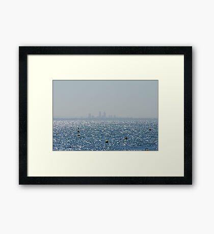 Landscape of Perth City Framed Print
