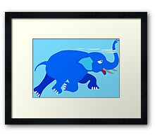 Loch Ness Elephant Theory Framed Print
