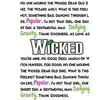 Wicked The Musical Photographic Print