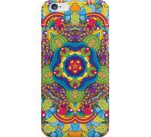 Psychedelic jungle kaleidoscope ornament 36 iPhone Case/Skin
