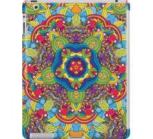 Psychedelic jungle kaleidoscope ornament 36 iPad Case/Skin