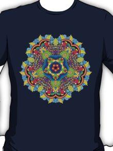 Psychedelic jungle kaleidoscope ornament 36 T-Shirt