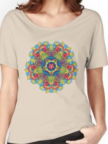 Psychedelic jungle kaleidoscope ornament 36 Women's Relaxed Fit T-Shirt
