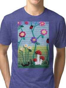 Garden of Imagination Toadstools Tri-blend T-Shirt