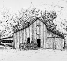 Barn and Wagon by ronend