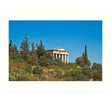 Temple of Hephaestus Art Print
