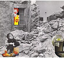 Unhappy meal....... Photographic Print