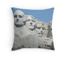 Rushmore views Throw Pillow