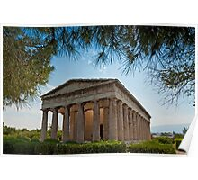 Temple of Hephaestus in Athens, Greece Poster