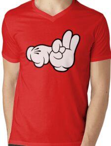Funny Fingers. Mens V-Neck T-Shirt
