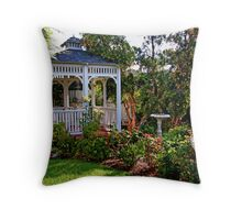 Garden Gazebo Throw Pillow