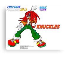 Freedom Fighter 2K3 Knuckles Canvas Print