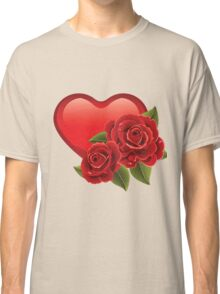 Heart with roses! Classic T-Shirt