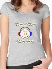 Cool Music Cool Life  Women's Fitted Scoop T-Shirt
