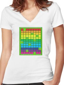 Rainbow Boxes Women's Fitted V-Neck T-Shirt