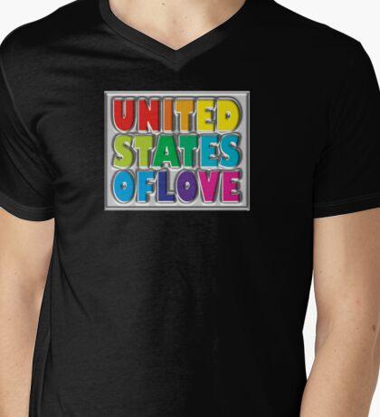 Unites States of Love Mens V-Neck T-Shirt