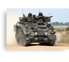 British Army FV103 Spartan Armoured Personnel Carrier Canvas Print
