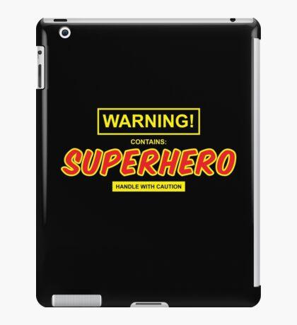 Warning! Contains: Superhero.  iPad Case/Skin