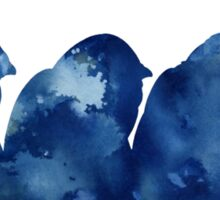 Penguins silhouette watercolor poster for sale Sticker