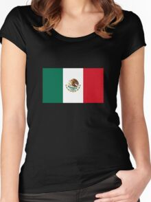 Mexico Flag Women's Fitted Scoop T-Shirt