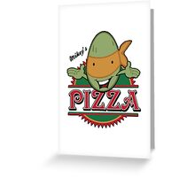 Mickey's Pizza Greeting Card