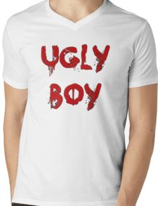 UGLY BOY Mens V-Neck T-Shirt