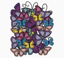 butterfly tee  by teegs