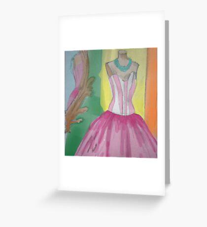 Princess dress Greeting Card