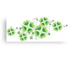 Clovers - St Patricks Day Canvas Print