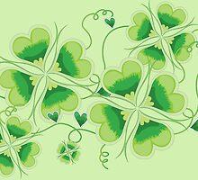 Clovers - St Patricks Day by Vitalia