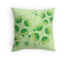 Clovers - St Patricks Day Throw Pillow