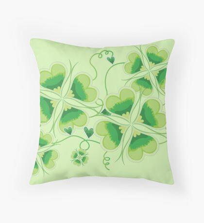 Clovers - St Patricks Day Throw Pillow