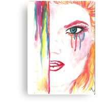Watercolor drawing wit ginger girl Metal Print