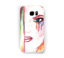 Watercolor drawing wit ginger girl Samsung Galaxy Case/Skin