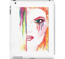 Watercolor drawing wit ginger girl iPad Case/Skin