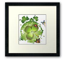 Clover - St Patricks Day Framed Print