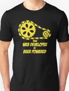 THIS WEB DEVELOPER IS BEER POWERED T-Shirt