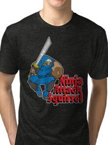 Ninja Attack Squirrel (DARK) Tri-blend T-Shirt