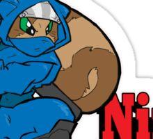 Ninja Attack Squirrel (DARK) Sticker