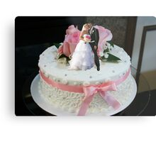 The Ultimate Wedding Cake Topper Metal Print