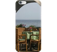 Table with a View iPhone Case/Skin