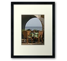 Table with a View Framed Print