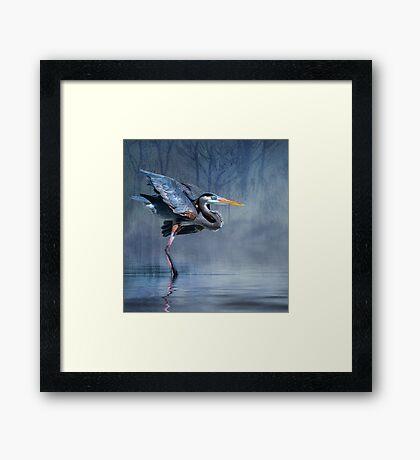 Leaving The Lake Framed Print