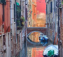 Canal In Venice Italy by Mythos57